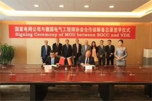 State Grid China und der deutsche Technologieverband unterzeichnen ein Memorandum of Understanding in Sachen Energie und Mobilität.