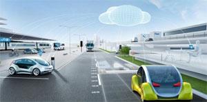 """Bosch verknüpft den elektrischen Antrieb mit der """"Bosch Automotive Cloud Suite"""" und entwickelt internetbasierte Services für das intelligente Elektroauto"""