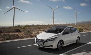 Bis zu 415 km Reichweite im städtischen WLTP-Zyklus beim Eelektro-Auto Nissan Leaf. Die kombinierte Reichweite nach WLTP liegt bei 285 km.
