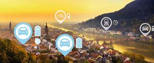 Eine Mobilitätsplattform wird im Fuhrpark der Stadt Heidelberg getestet.