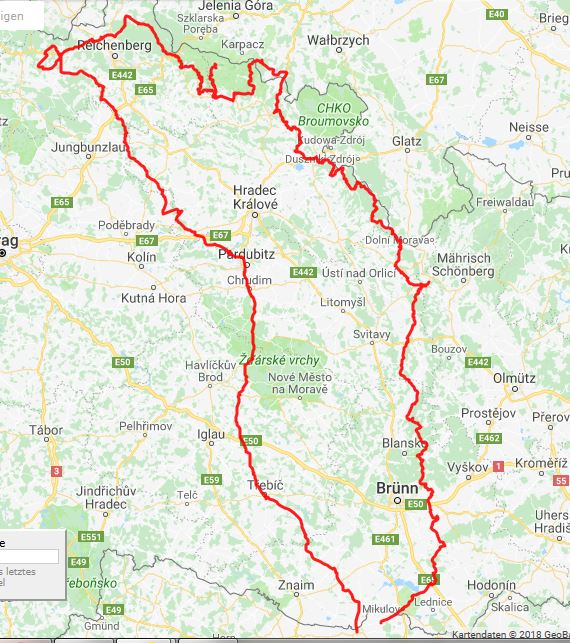 Gesamttour 1014km / davon gemeinsam gefahren 963km