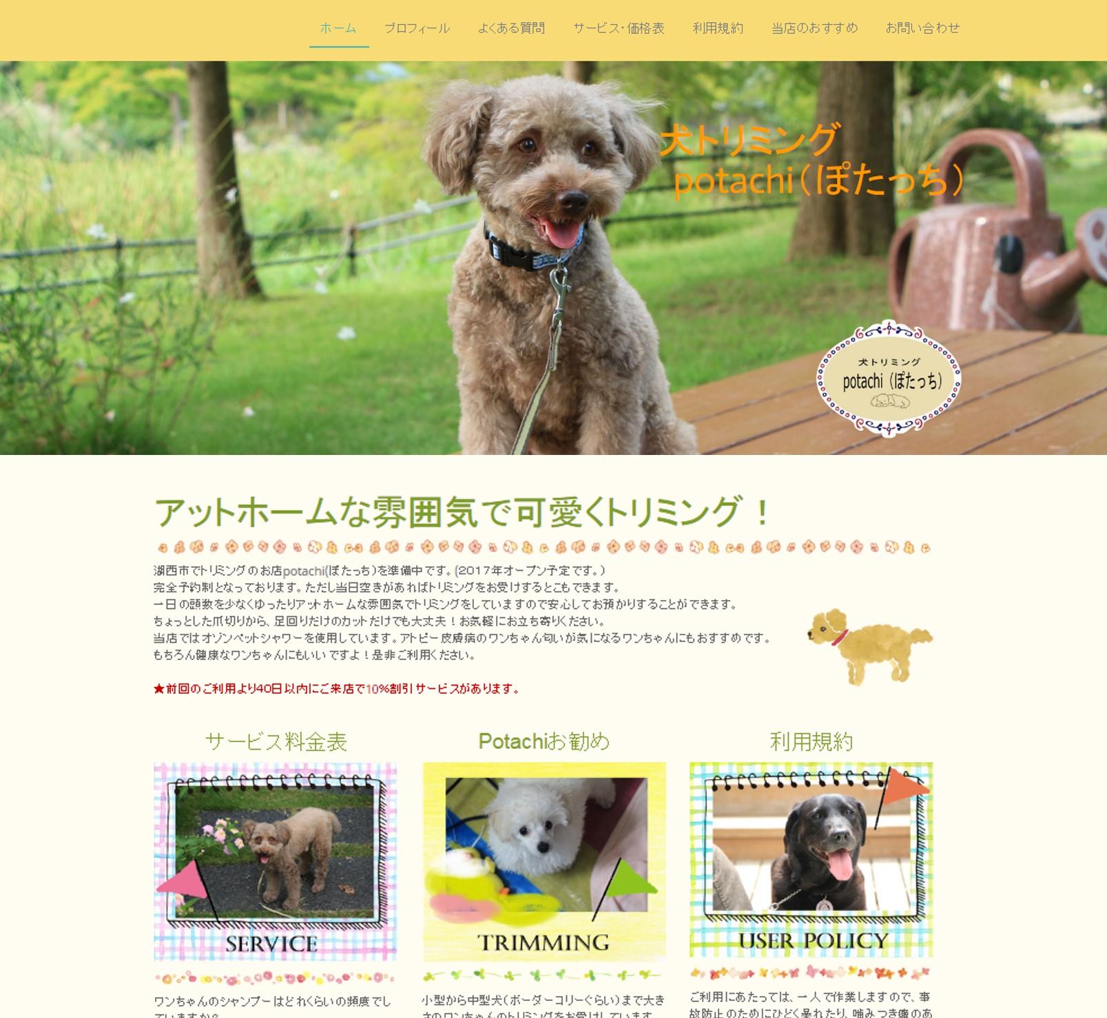湖西市 犬のトリミングPotachi(ぽたっち)