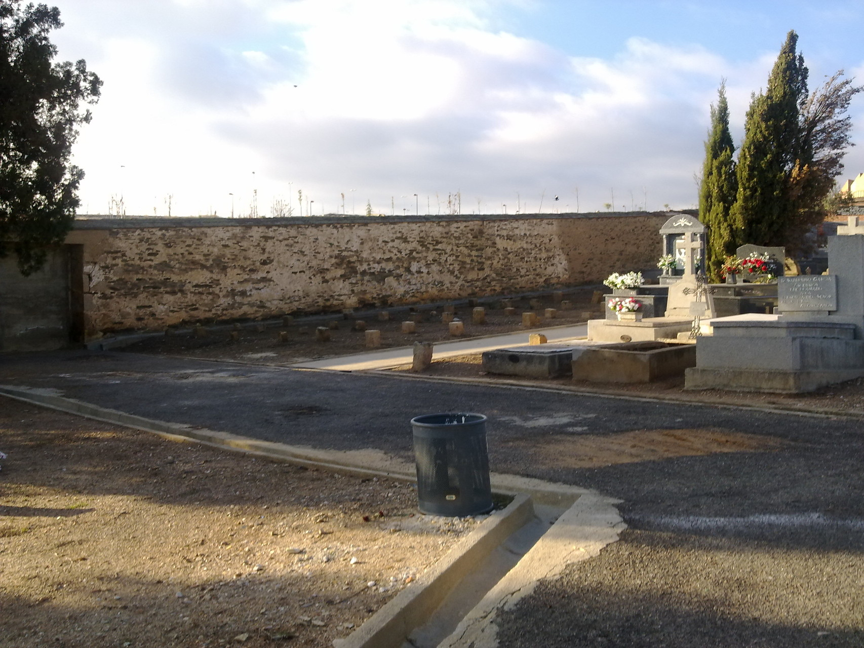 paredón de fusilamiento del cementerio, Salamanca, foto propia
