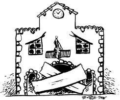La casa del pueblo mutilada y amordazada
