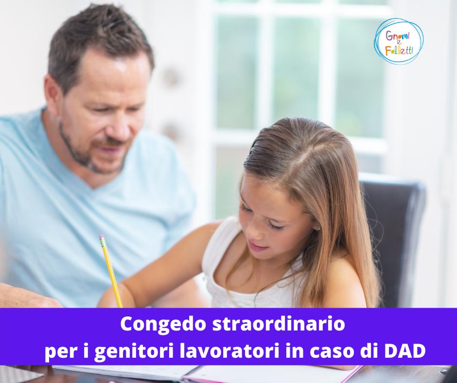 Congedo straordinario per i genitori lavoratori in caso di DAD