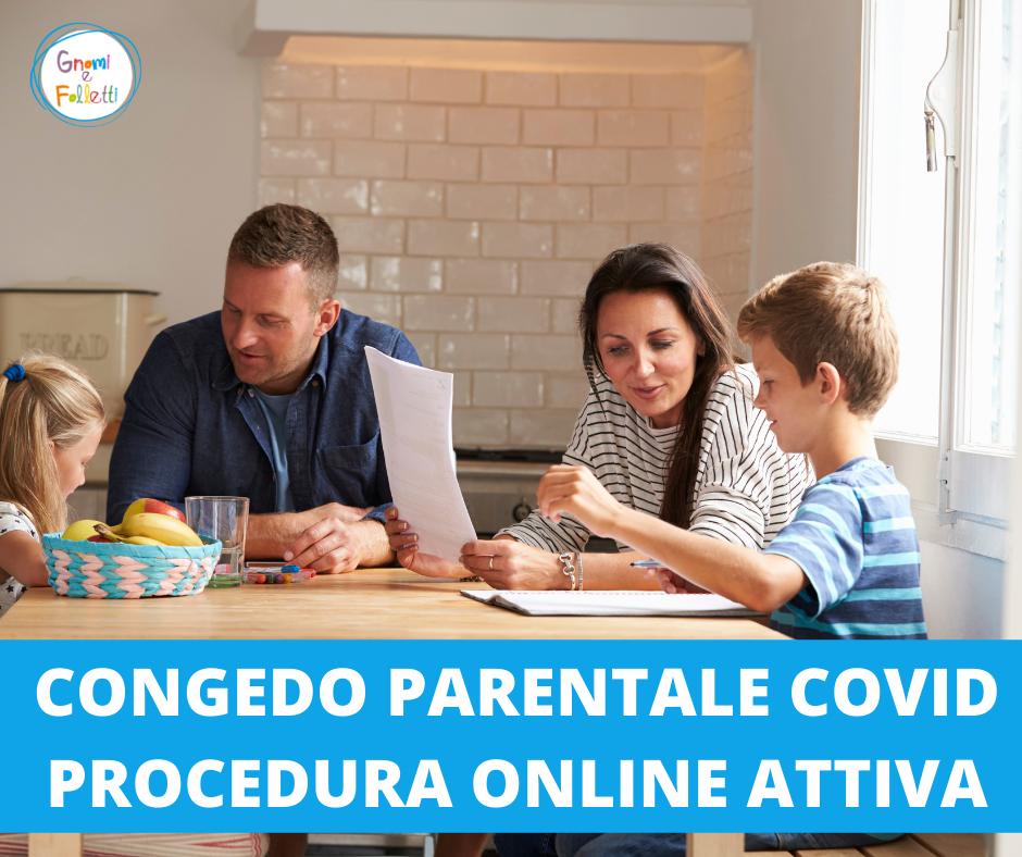 Congedo parentale Covid: attiva la procedura online