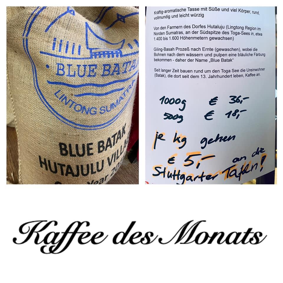 Spendenerlös Kaffee des Monats Mai - September 2020