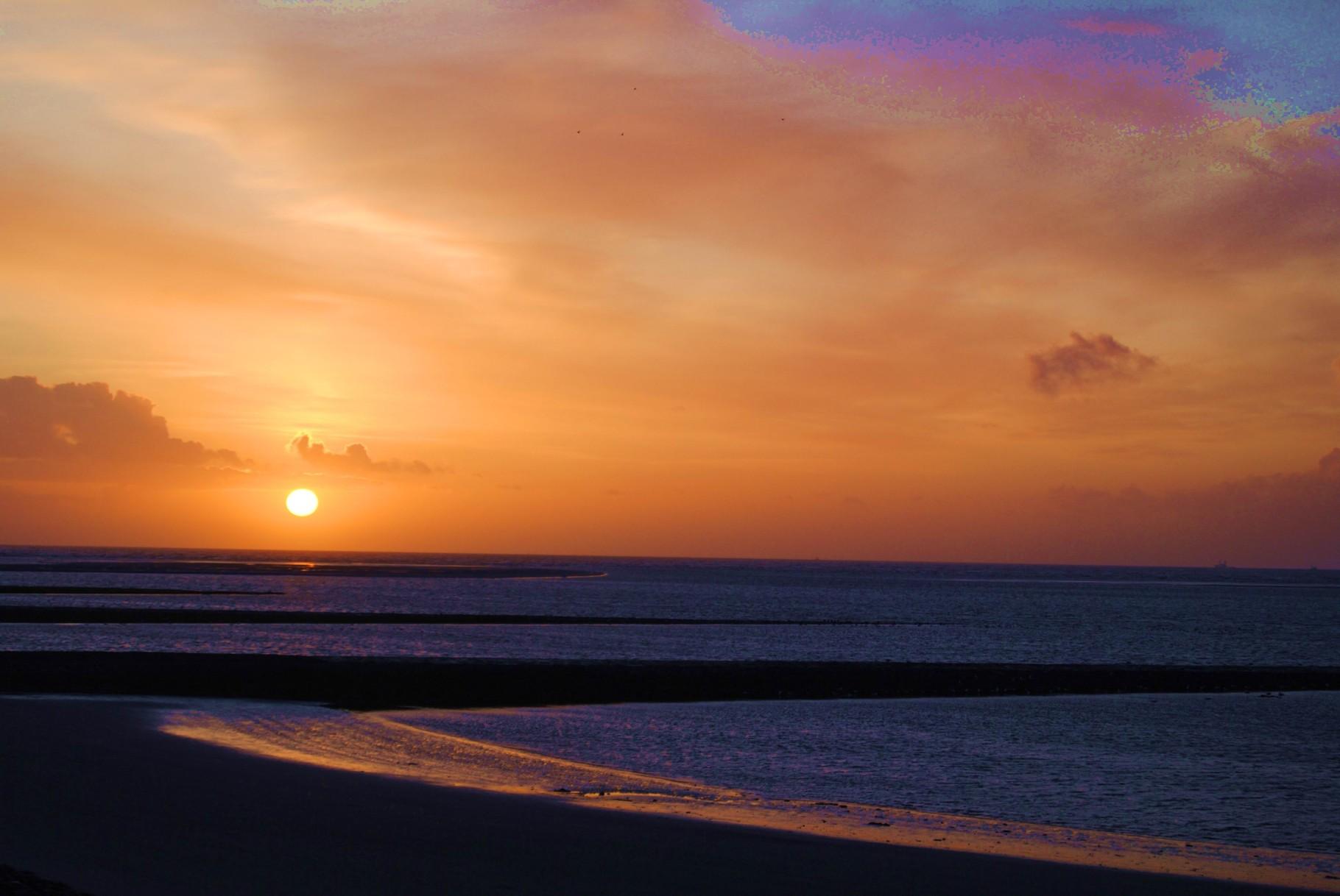 Was wäre ein Sonnenuntergang ohne Wasser? © B.Beyer