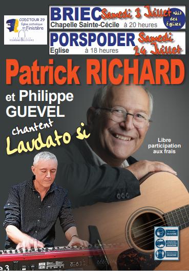Patrick RICHARD et Philippe GUEVEL chantent Laudato Si