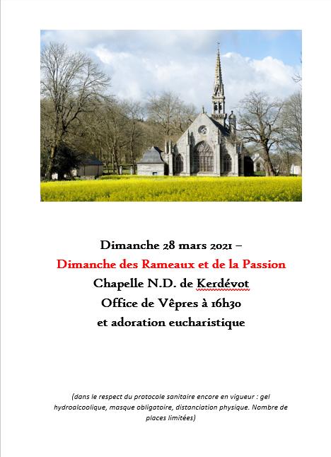 Vêpres à la chapelle de Kerdévot