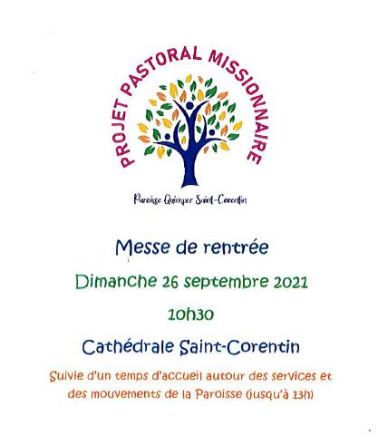 Messe de rentrée paroissiale le 26 septembre 2021