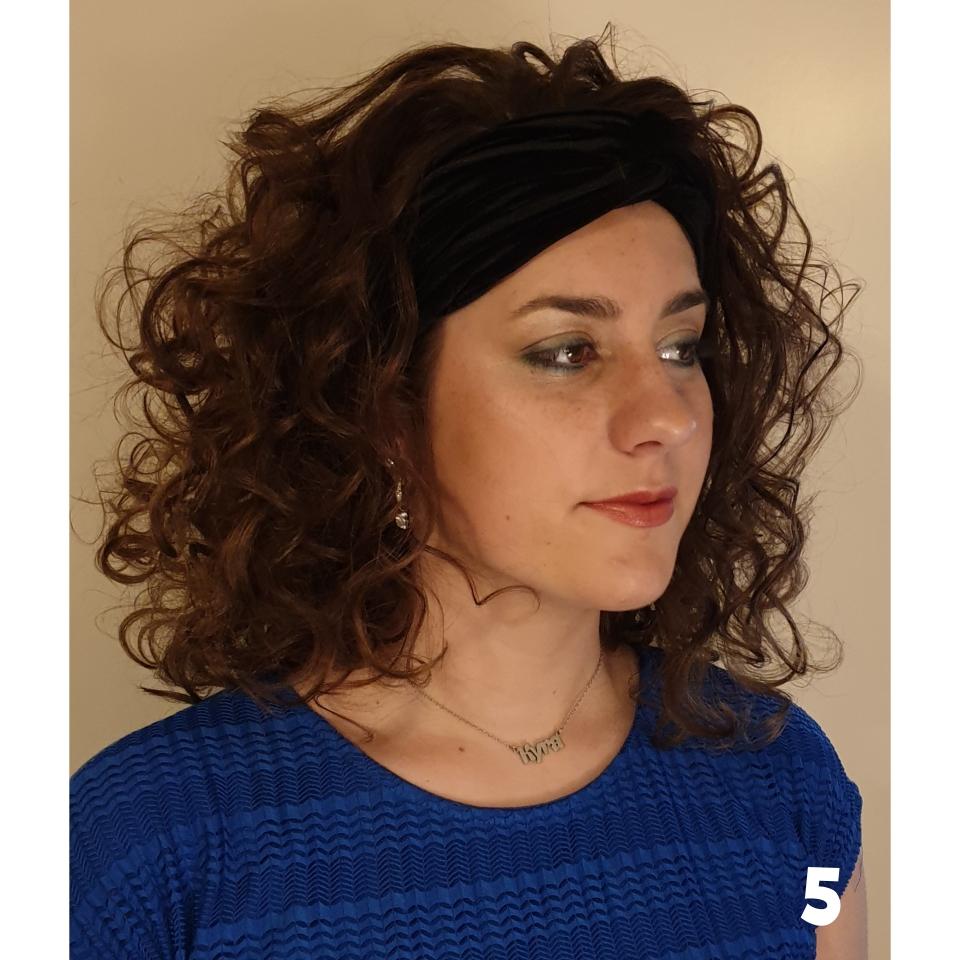 met een haarband