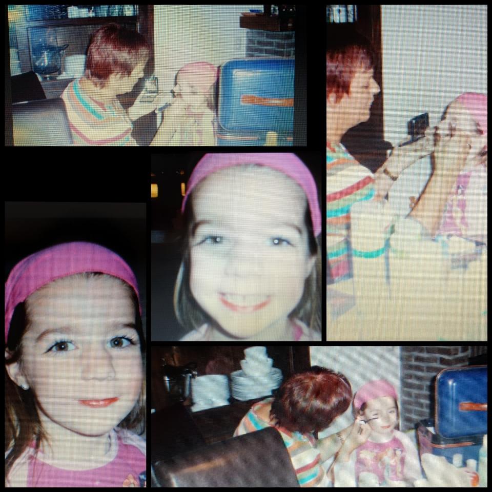 Mijn meisje zo blij.........make-up gedaan door Door van Mylene op onze Mylene avond