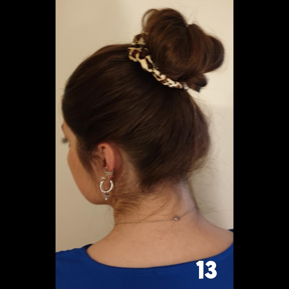 losse knot met een scrunchie