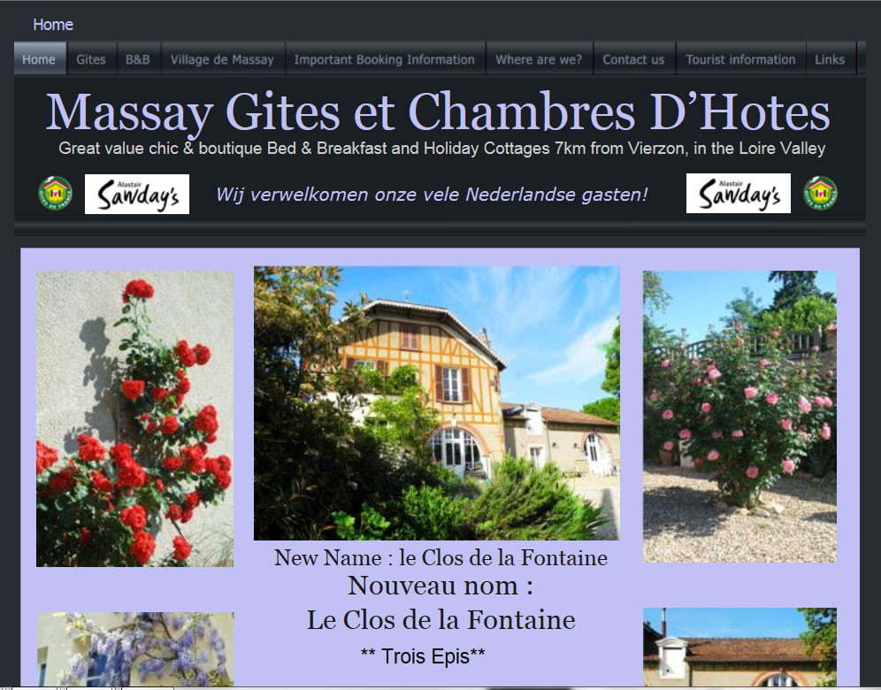 English Version Le Clos De La Fontaine Massay