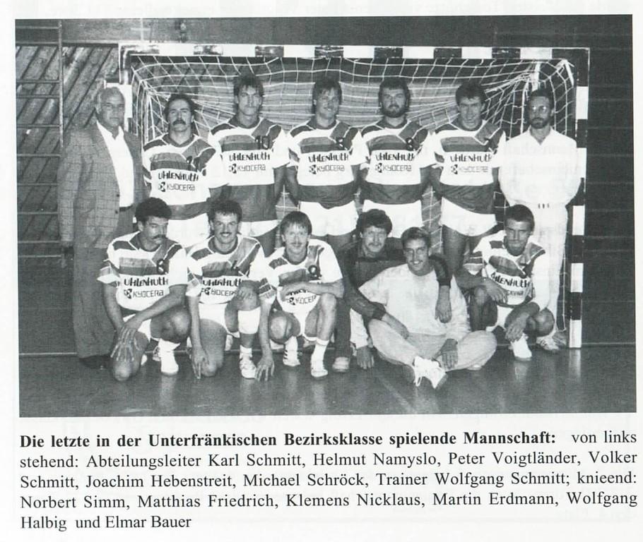 Handballer 1990/91 - TSV 1866 Schonungen