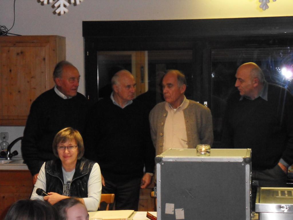 VS-MGL Ute Fleischmann, Ä-MGL Bruno Nicklaus, Ehrenmitglied u. HB-AL Karl Schmitt, Ehrenmitglied u. ÄR-VS Werner Weck, VS-MGL Richard Hesselbach