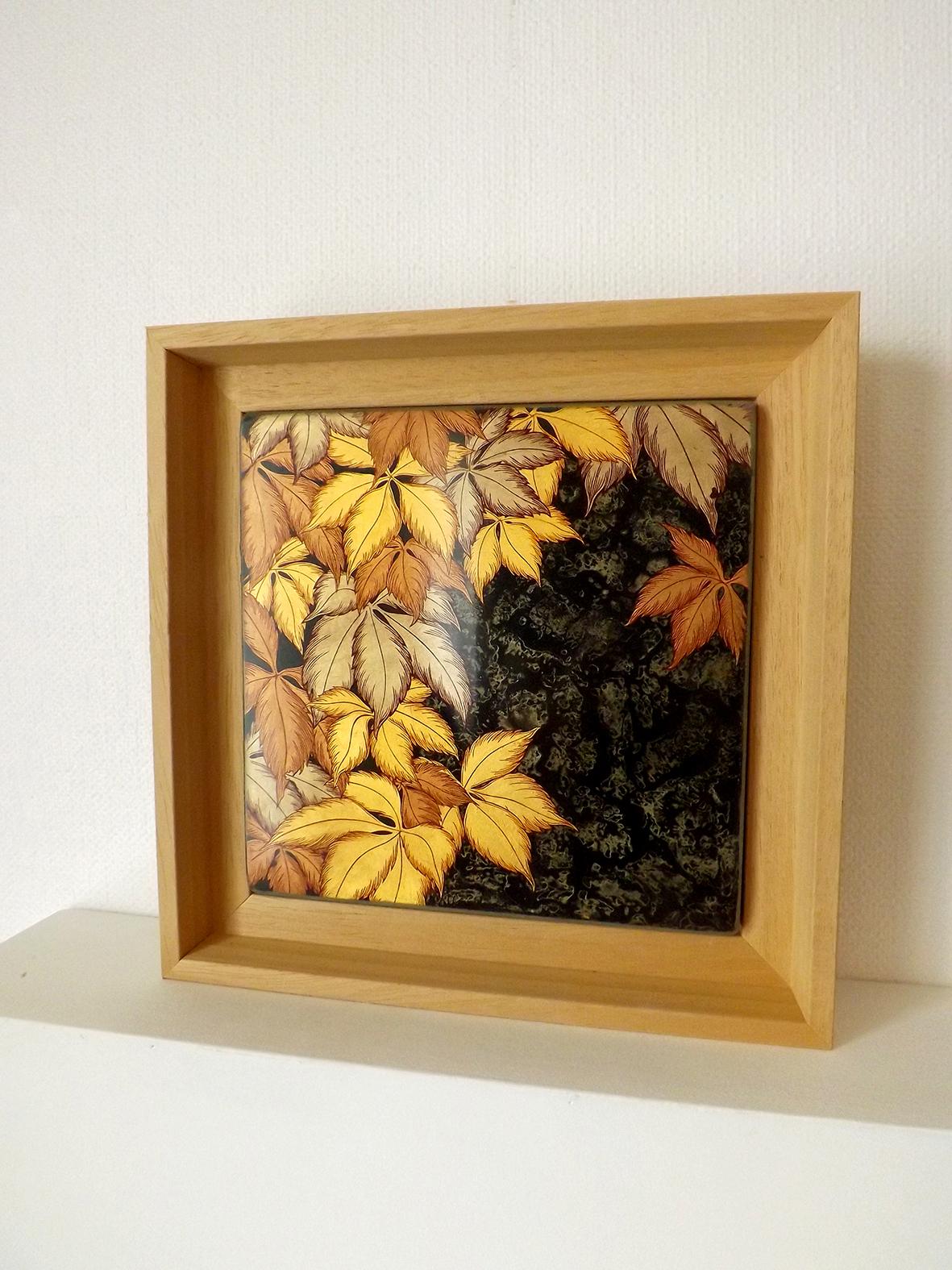 Sabi, 20x20 cm, 2019, laque sur bois avec pigments,  feuilles d'or rouge, moongold et bronzines