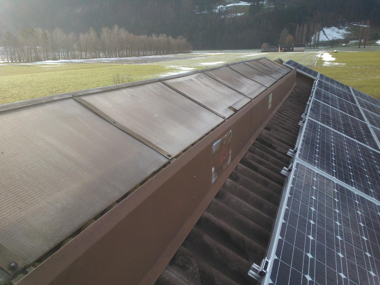 PV-Anlage 18kw in Vilters. Modul: 270 Yingli-Panda Unterbau: Top-Fix 200 zweilagig