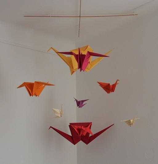 Merci Delphine pour les origamis!