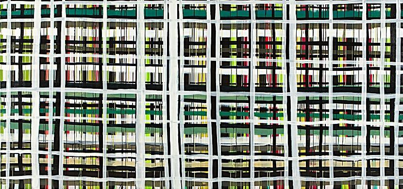 Monika Humm Transition 3, 2011, Acrylmalerei auf Leinwand, 195x415x5cm