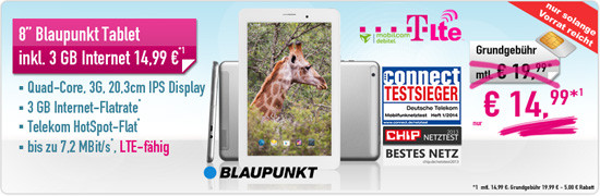Blaupunkt Tablet Aktion