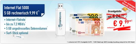 O2 Datenaktion 5 GB