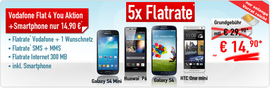 Sonderaktion Flat4You + Smartphone