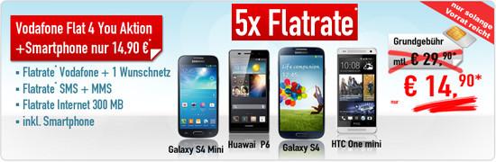 Sonderaktion Flat4You + Smartphone