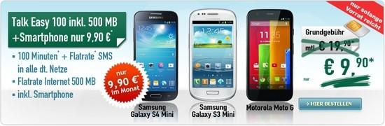 Sonder-Aktion Talk Easy 9,90 € mit Smartphone