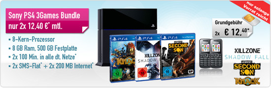 PS 4 + 3 Games