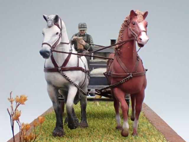 馬の頭のてっぺんまで6cmほど。小さな世界が広がります。