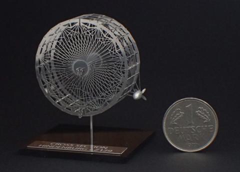 エアロベース(AEROBASE)[C003] 1/1000 ヒンデンブルク号のカットモデル