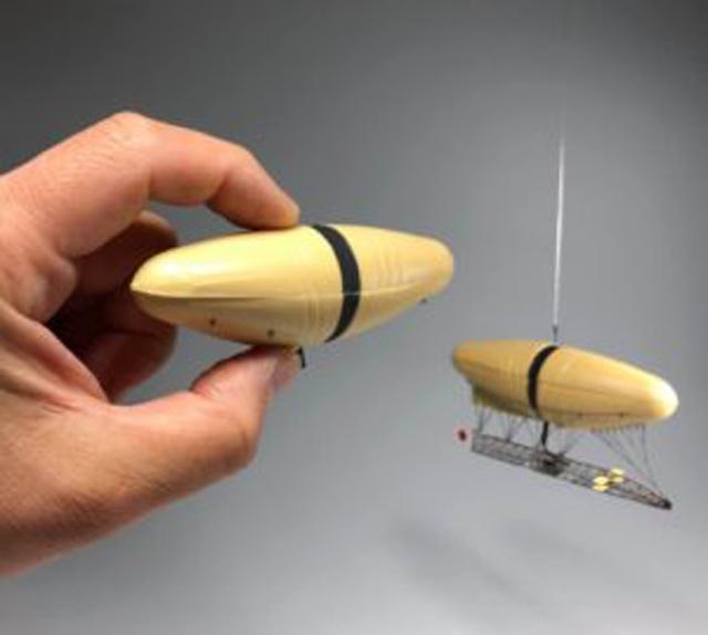 山田式飛行船の仕組み 風船の巻