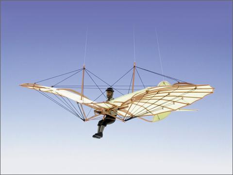 エアロベース(AEROBASE)[A005] 1/48 リリエンタール標準機1894年式