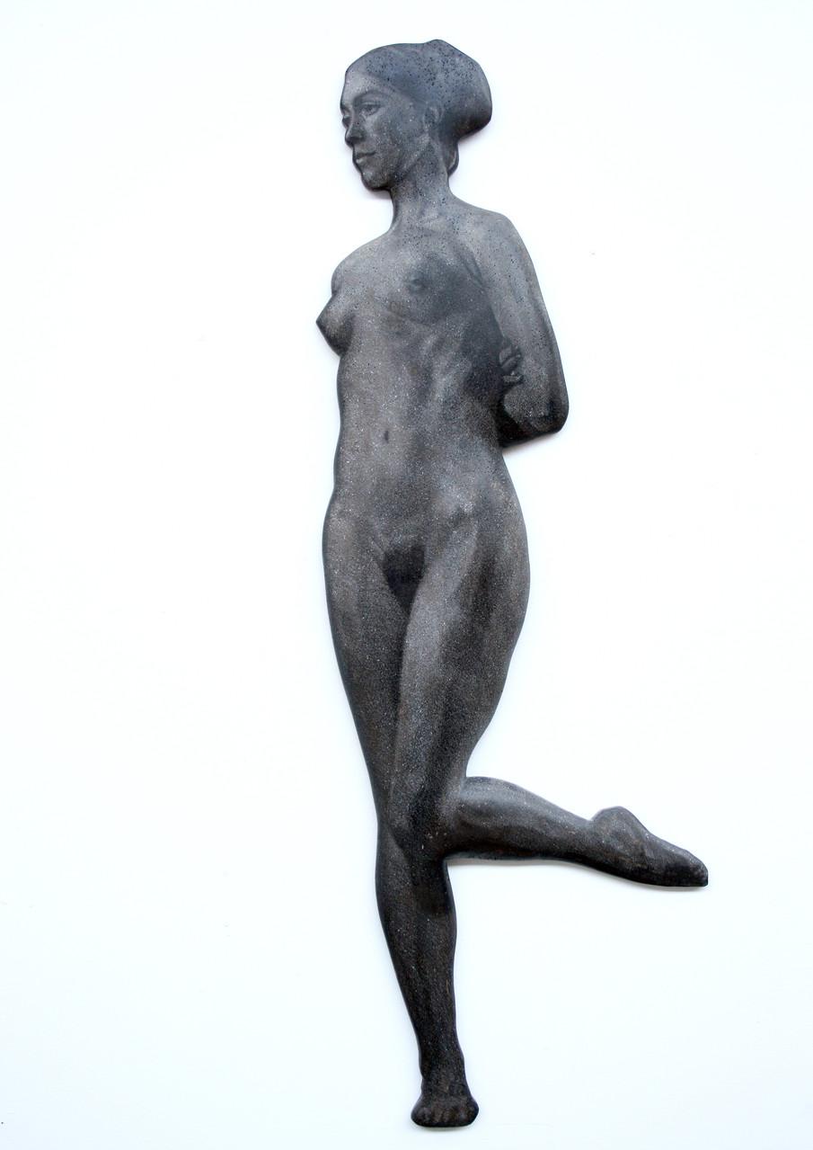 """""""Frau"""", Beton / Gravur, 108 x 50 x 10, 2006"""