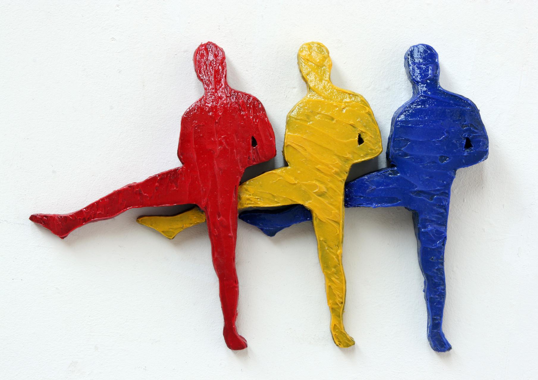 """red, yellow, blue"", Beton / Pigmente / Akepox, 2012"