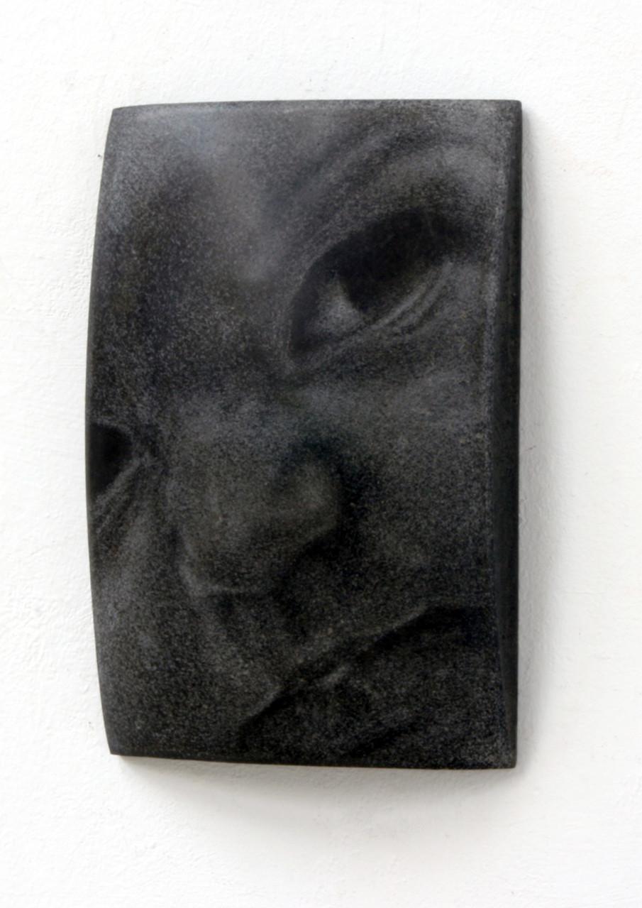 """Helena"", Beton/Gravur,  36 x 24 x 9, 2010"