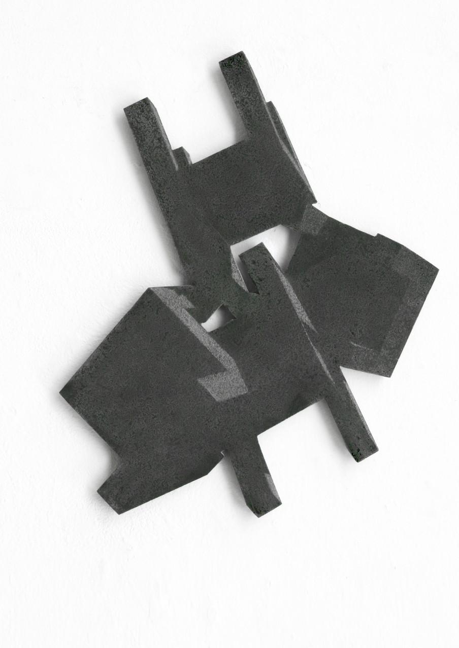 """""""riot I"""", Beton/Gravur, 2013, 50 x 45 x 3"""