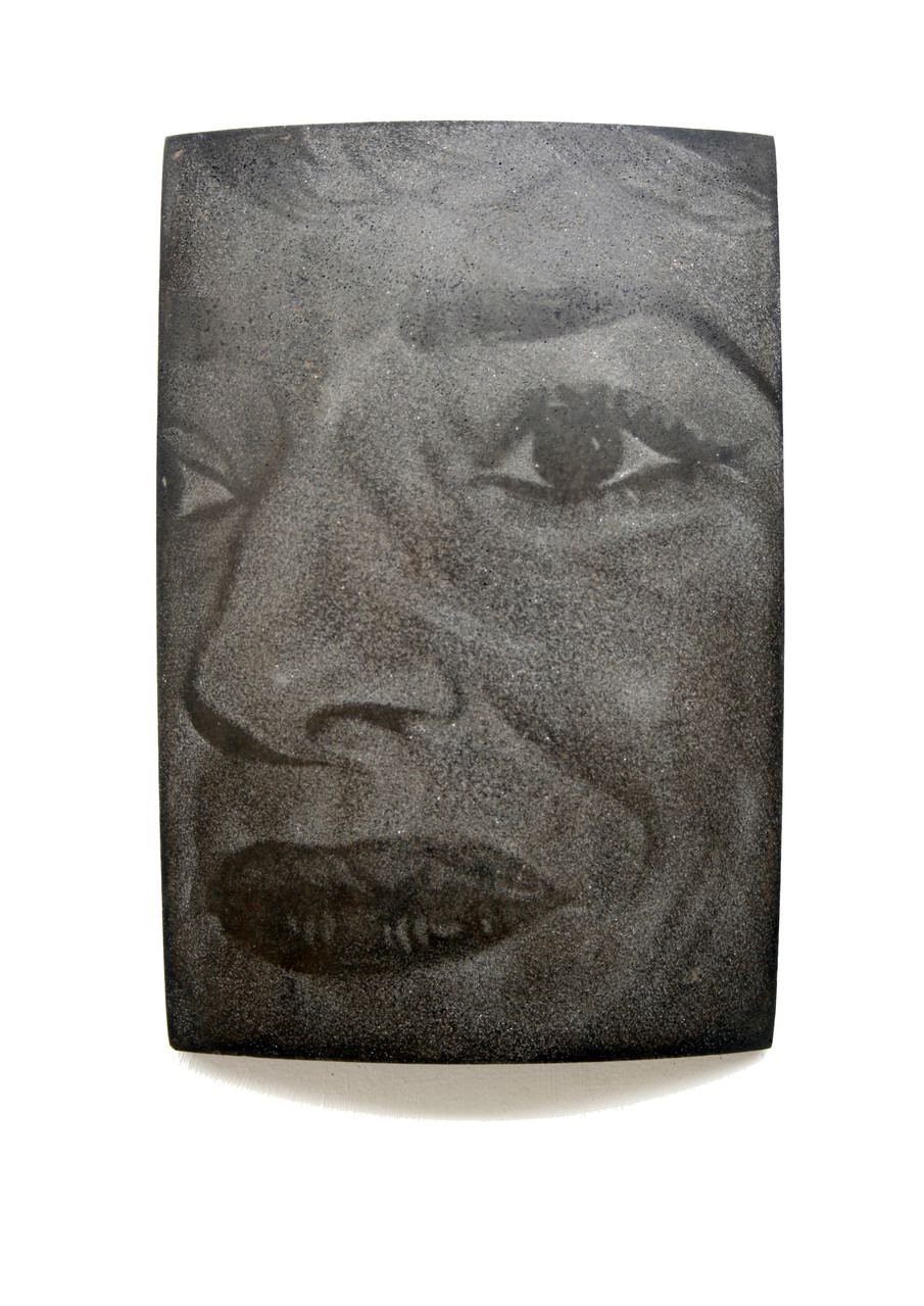 """Callas"", Beton / Gravur, 36 x 24 x 9, 2006"