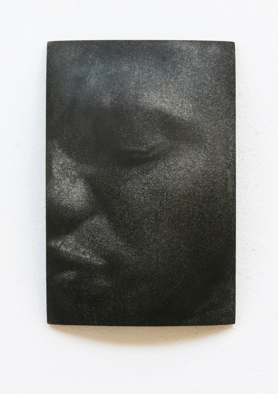 """Osahenye"", Beton/Gravur,  36 x 24 x 9, 2014"