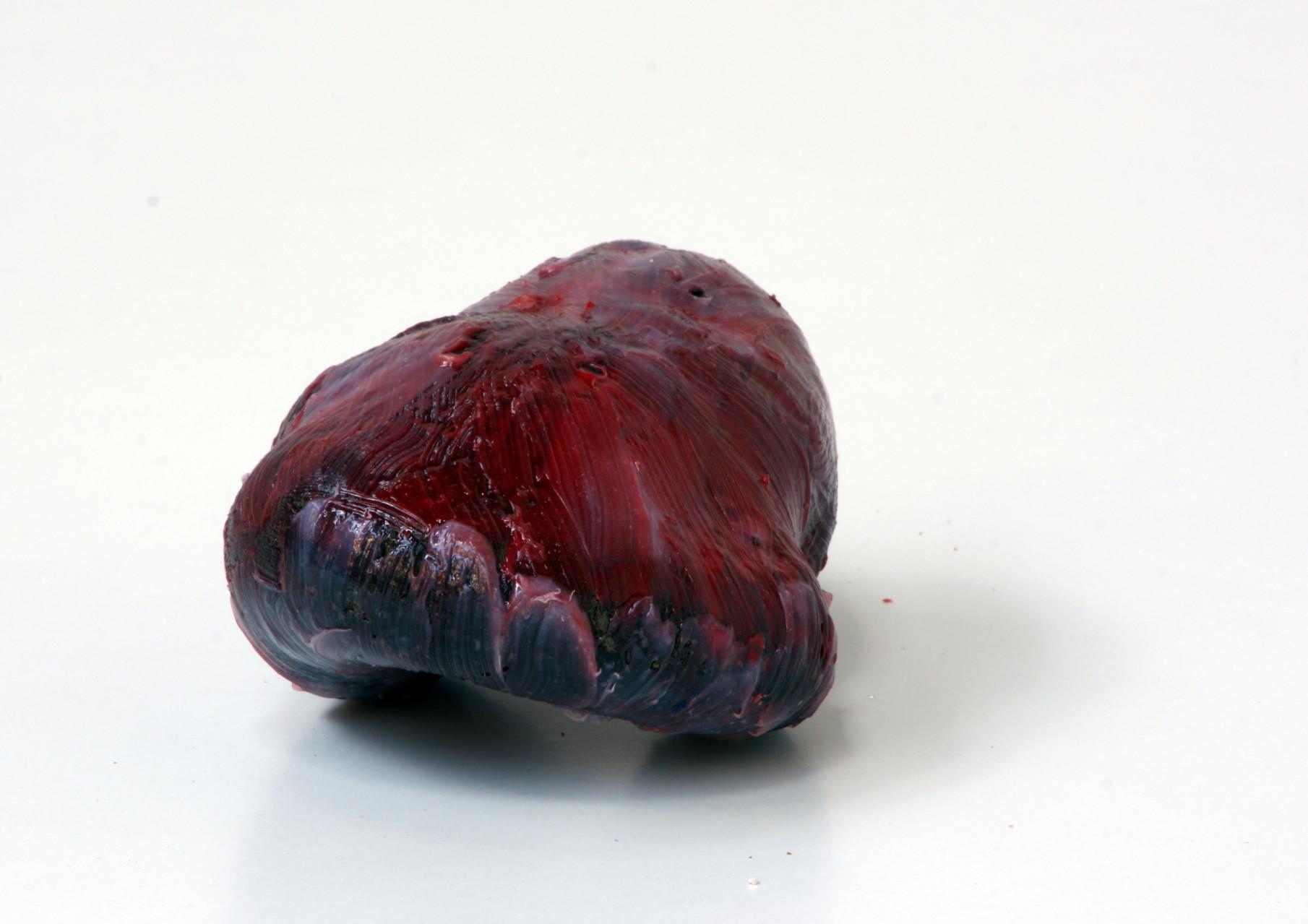 """meat"", Beton/Kunstharz/Pigmente,  12 x 16 x 18, 2008"