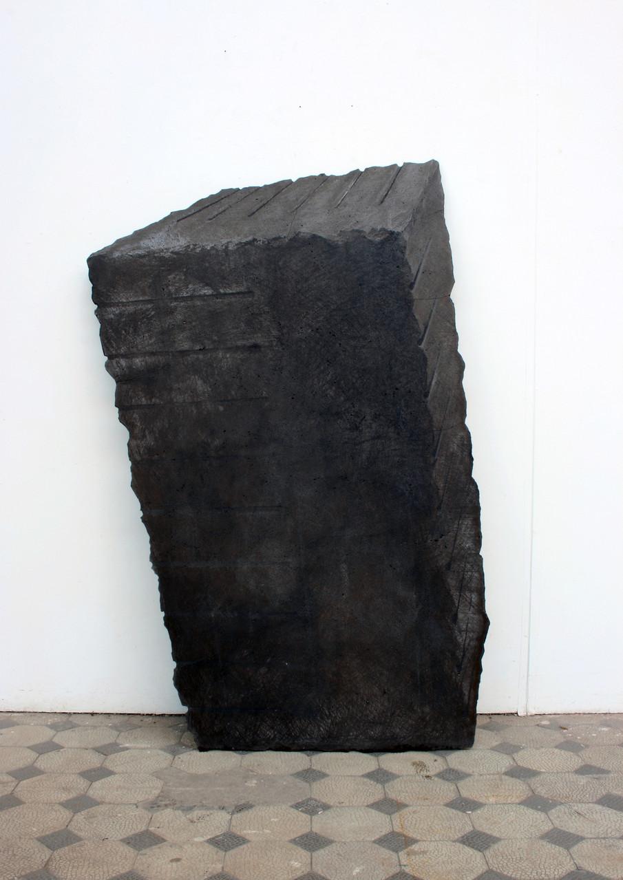 """Block"", Beton / Gravur, 140 x 75 x 2, 2003"