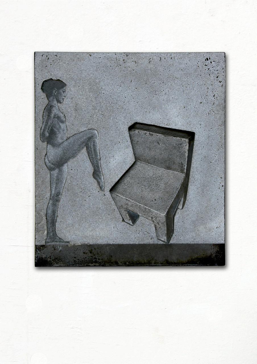 """Balance"", Beton / Gravur, 50 x 50 x 8, 2013"