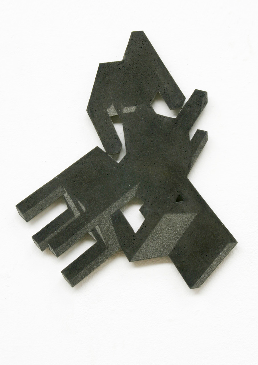 """riot III"", Beton/Gravur, 2013, 57 x 45 x 3"