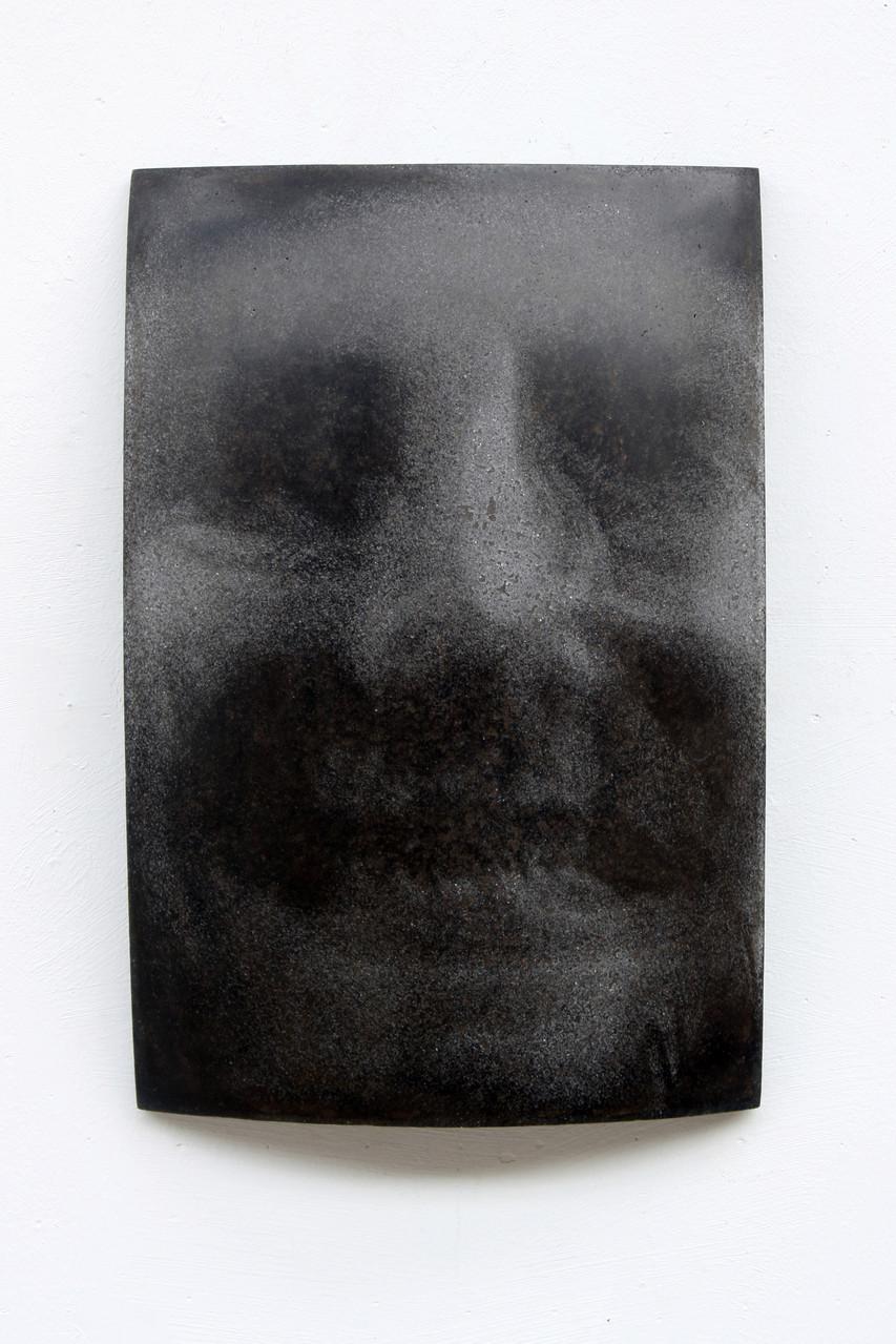 """Elisabeth"", Beton/Gravur,  36 x 24 x 9, 2007"