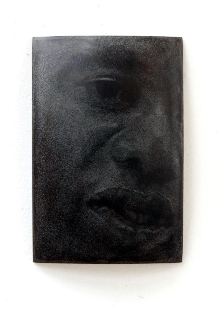 """Phil"", Beton/Gravur,  36 x 24 x 9, 2008"