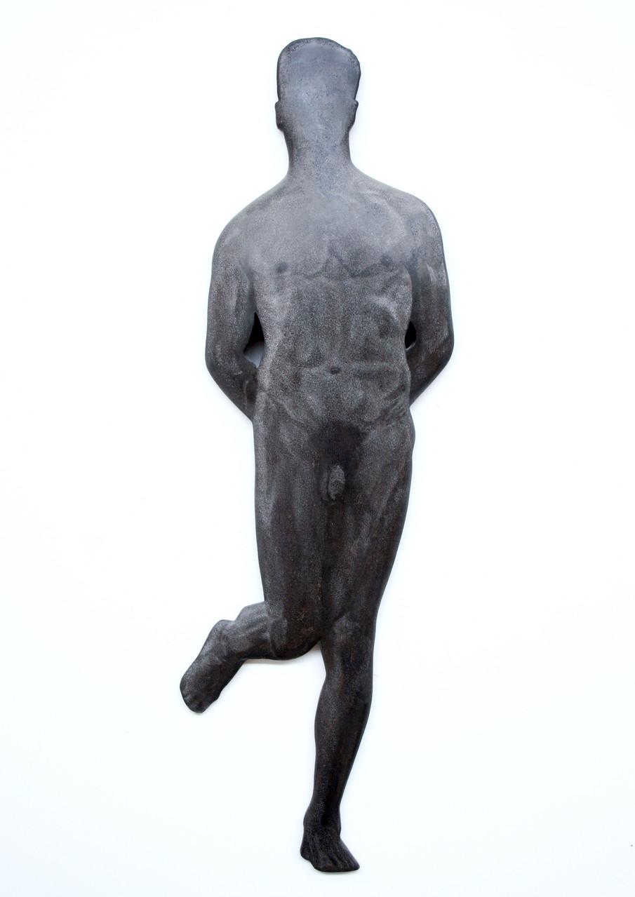 """Mann"", Beton / Gravur, 108 x 50 x 10, 2006"