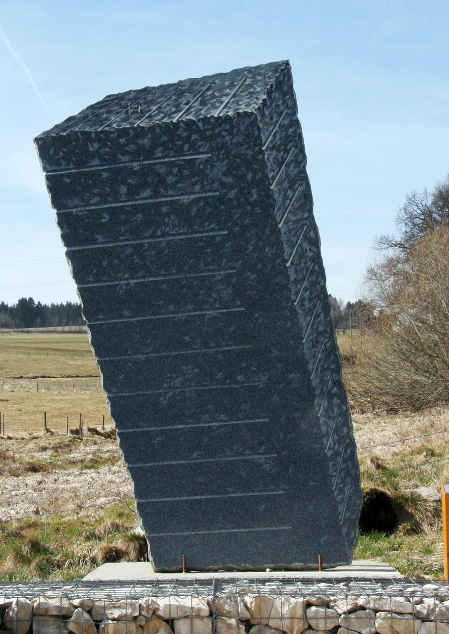"""""""Rohblock"""",  Impala - Granit-Platte,  300 x 145  x 6,   2006"""