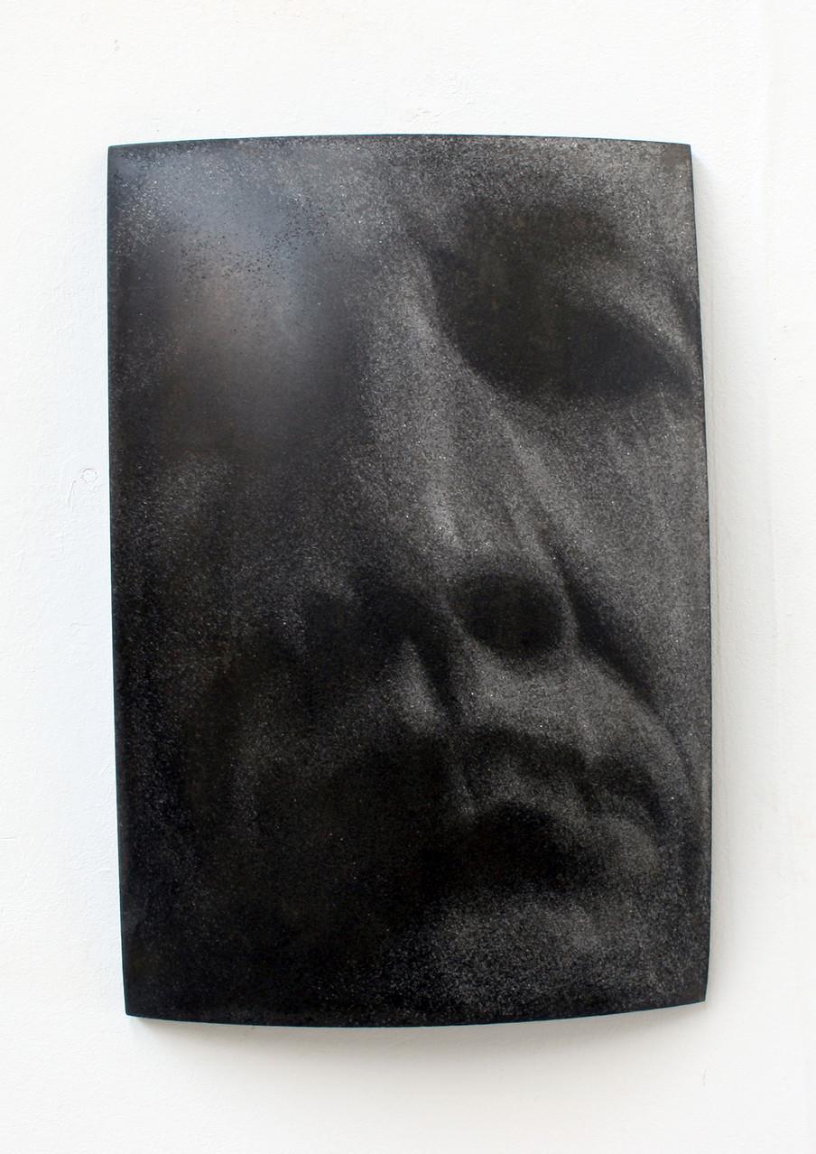 """""""selbst"""", Beton/Gravur,  36 x 24 x 9, 2007"""